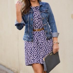 J. Crew Scattered Heart Print Dress
